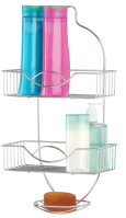SHOWER CADDY-CHROME RAINBOW (Case Pack of 12)