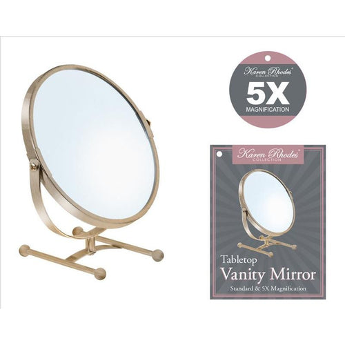 7IN VANITY MIRROR COUNTER-ORB 5X (Case Pack of 12)
