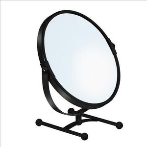 7IN VANITY MIRROR COUNTER-MATTEBLACK 5X (Case Pack of 12)