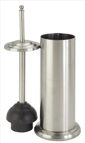 Bath Bliss Toilet Plunger in Stainless Steel (Case Pack of 12)