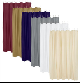 Bath Bliss Shower Liner in Assorted Colors (Case Pack of 72)