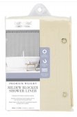 Bath Bliss Mildew Resistant Shower Liner in Beige (Case Pack of 20)