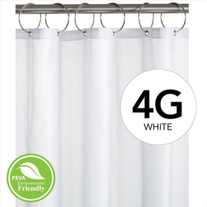 "Peva Shower Curtain LIner 4 Gauge 70""  x 72""- White"