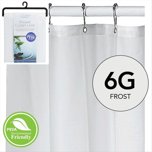 Peva Shower Curtain LIner 6 Gauge 70  x 72- Frost