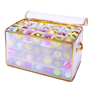 "112 COUNT ORNAMENT STORAGE ORGANIZER= 2.25"" BALLS - 12x21x12"""
