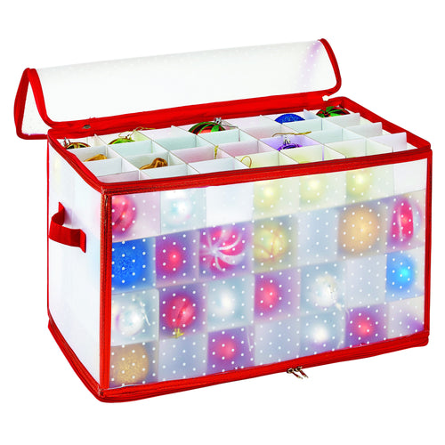 112 COUNT ORNAMENT STORAGE ORGANIZER= 2.25