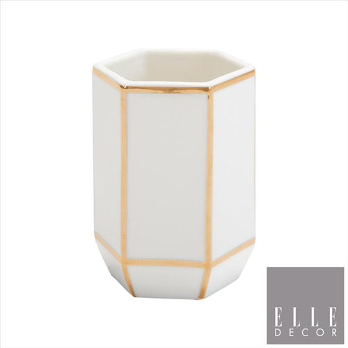 Art Deco Tumbler W Line - Gold (Case Pack of 12)