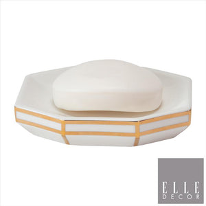 Art Deco Soap Dish W Line - Gold (Case Pack of 12)