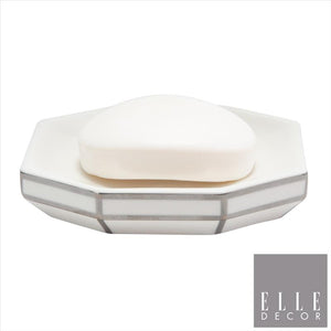 Art Deco Soap Dish W Line - Silver (Case Pack of 12)