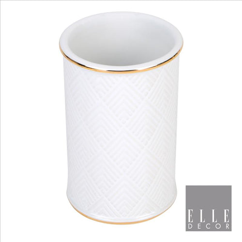 Elle Décor Embossed Ceramic Tumbler (Case Pack of 12)