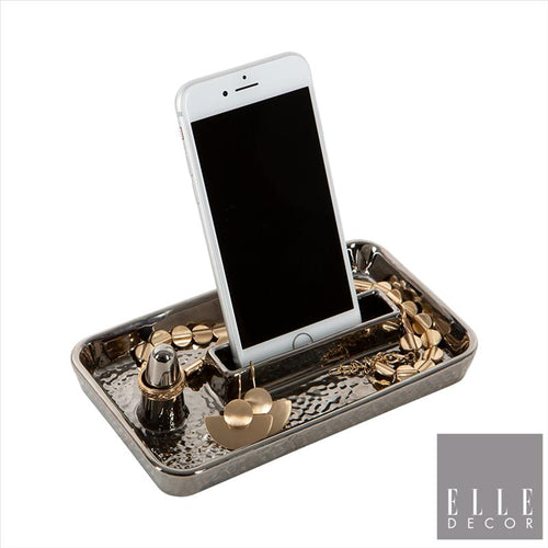 Hammered Metallic Ring and Phone Holder (Case Pack of 12)