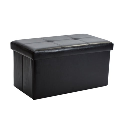 DOUBLE FOLDING OTTOMAN-BLACK