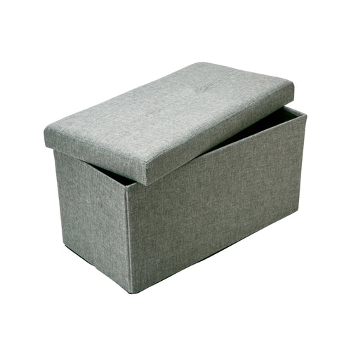 DOUBLE FOLDING OTTOMAN-GREY-LINEN LOOK