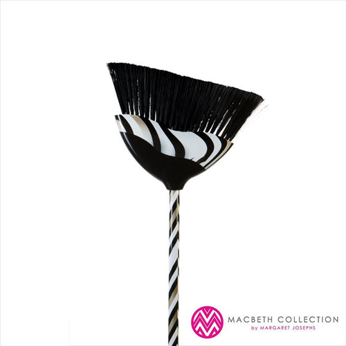 Chevron Print Angle Broom- Gold (Case Pack of 12)