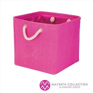 "SOLID CANVAS STORAGE CUBE 11X11X11""- HOT PINK"