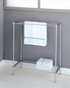Neu Home Freestanding Towel Rack in Chrome (Case Pack of 4)