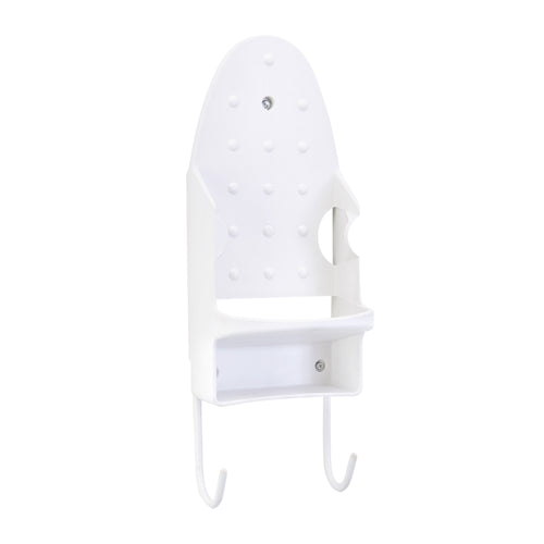 IRON & IRONING BOARD WALL  MOUNT HOLDER- WHITE (Case Pack of 12)
