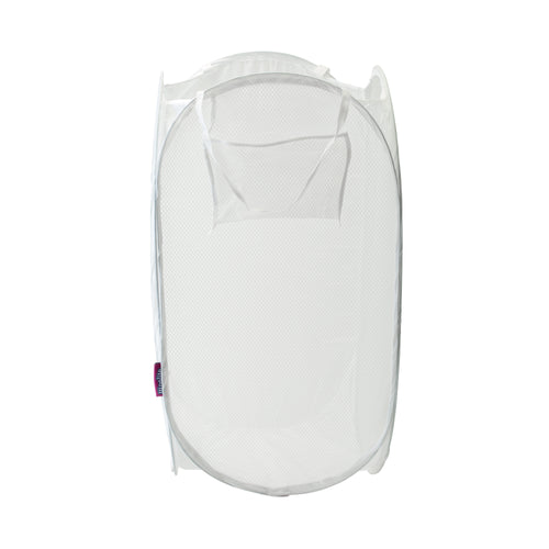 SANITIZED MESH FOLDABLE POP-UP HAMPER (COMPACT)-WHITE COLOR