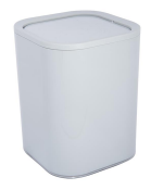 Acrylic Square with Rounded Edges Waste Bin (Grey) (Case Pack of 6)