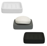 Ceramic Soap Dish w/ Soft Touch Finish- Assorted