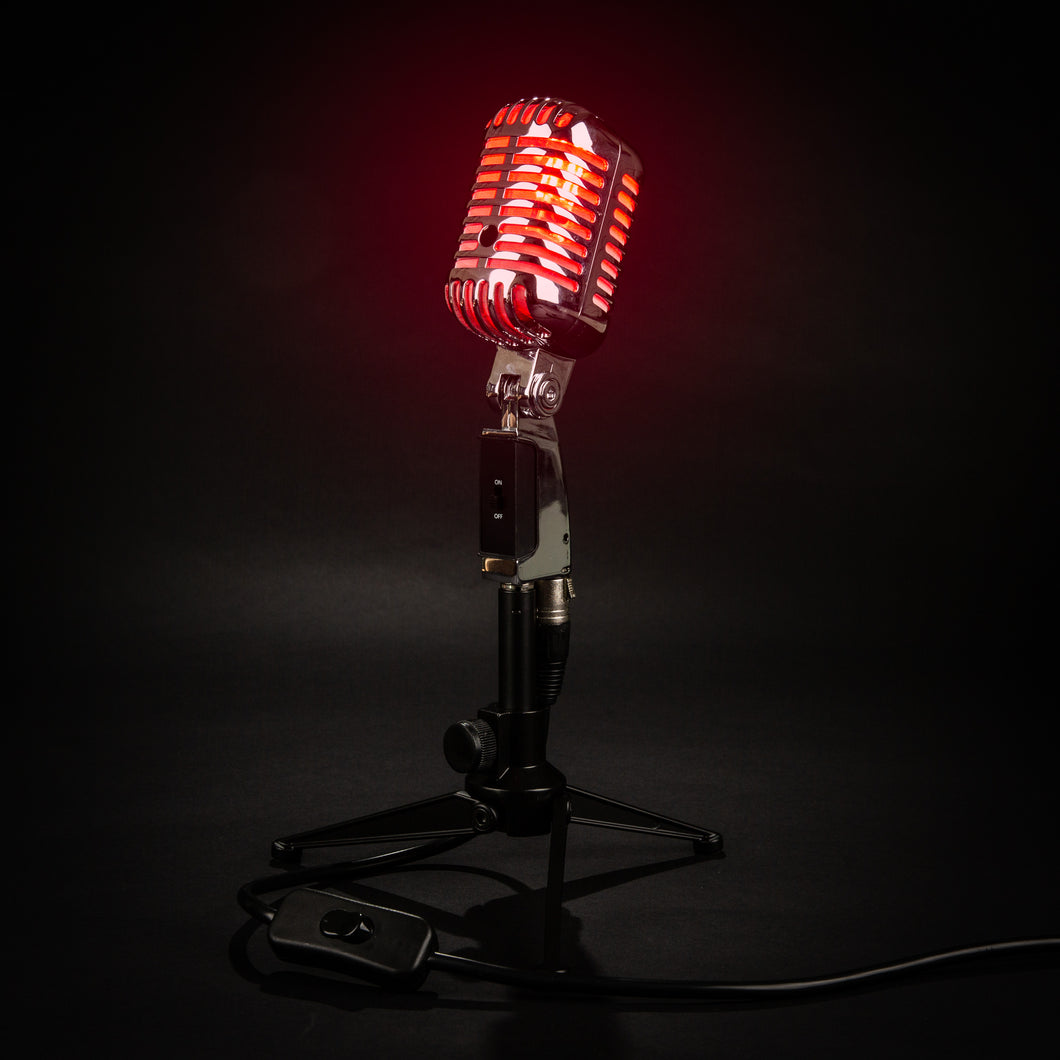 Retro Microphone Lamp - On Air Edition - Microphone Mania