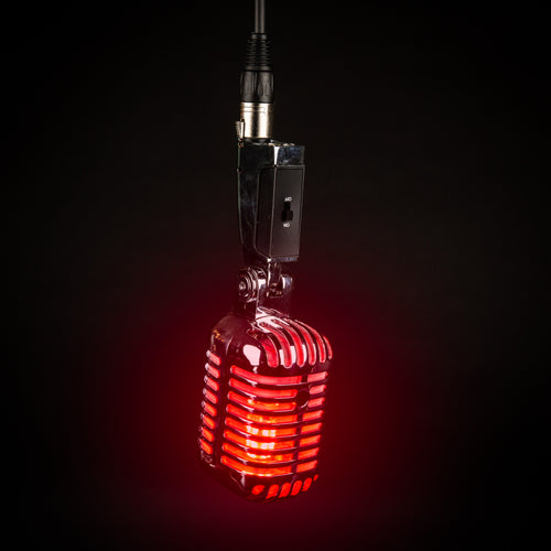 Hanging Retro Microphone Lamp - On Air Edition - Microphone Mania