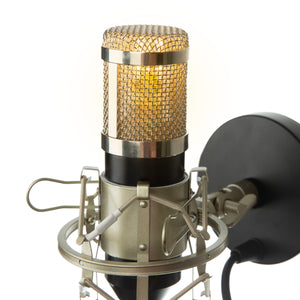 Studio Microphone Wall Lamp - Black - Microphone Mania
