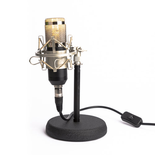 Studio Microphone Desk Lamp - Black - Microphone Mania