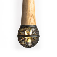 Hanging Wooden Microphone Lamp - Black - Microphone Mania