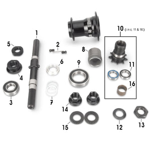 RAMPAGE FREECOASTER HUB SMALL PARTS