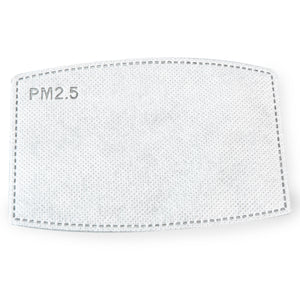 PM2.5 CARBON FILTER FOR FACE MASK W/ FILTER POCKET