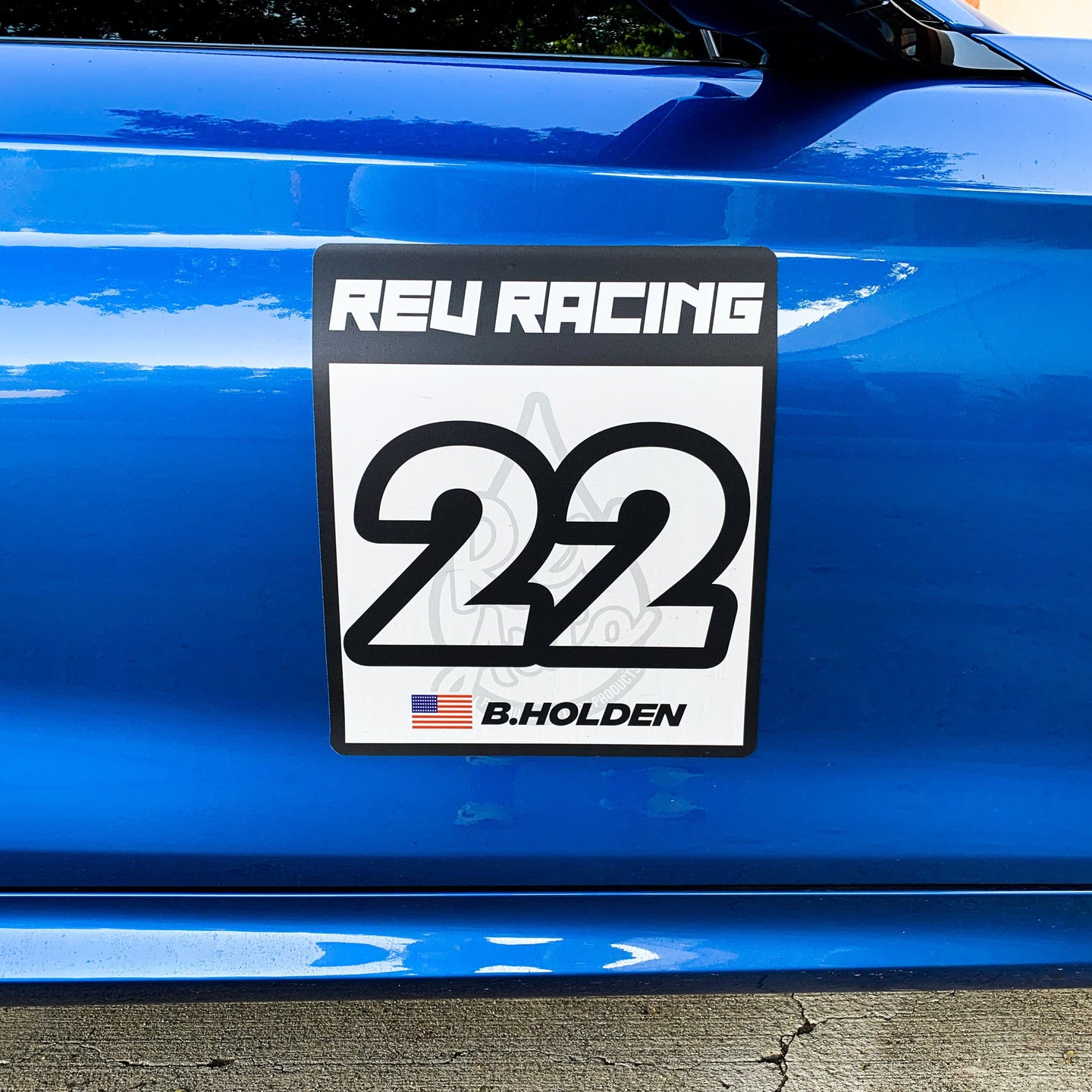 REV Racing Number Magets