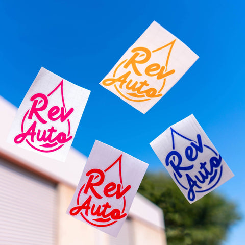 REV Auto's Water-Drop Decal