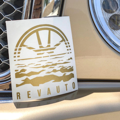 Rise and Shine Decal (Gold)