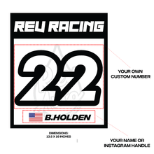 Load image into Gallery viewer, REV Racing Number Magets