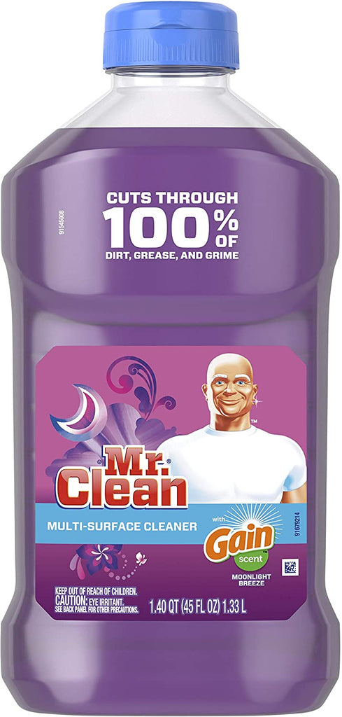 Mr. Clean Liquid Multi-Purpose Cleaner W/ Gain, Moonlight Breeze Scent, 45 Oz