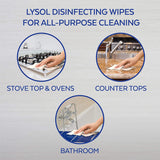 Lysol Dual Action Disinfecting Wipes w. Scrubbing Texture, 75 Count