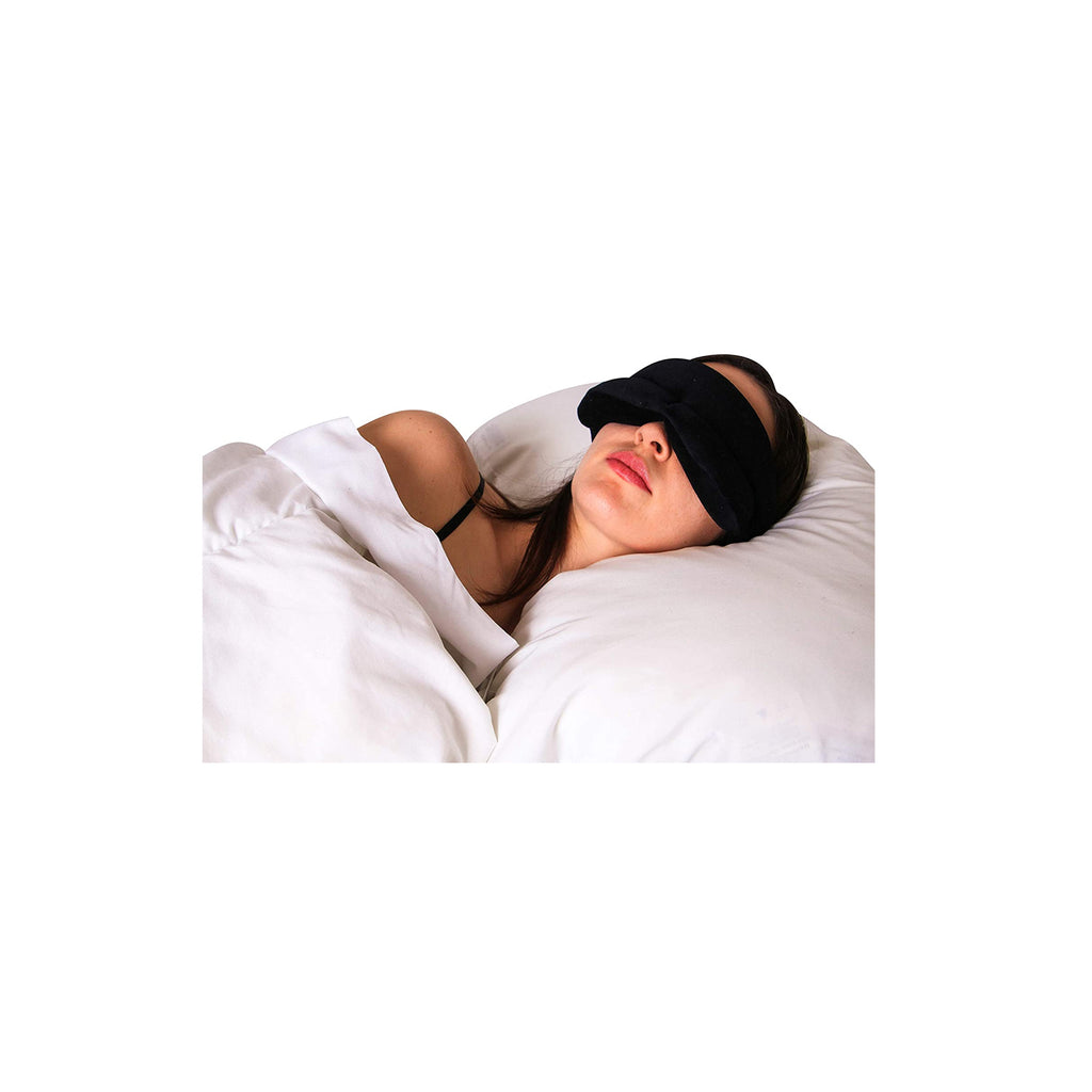 Eye See Eye Mask for Sleeping Blackout - Padded Memory Foam Sleep Mask with Velvet Fit Eye Pockets and Soft Strap - for Men and Women