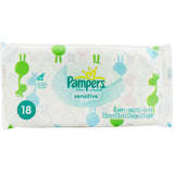 Pampers Sensitive Soft Pack Wipes 18 Count