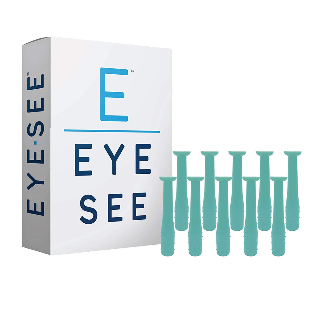 EyeSee Hard Contact Lens Remover RGP Plunger, Green, 10 Pack