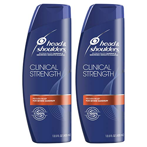 Head and Shoulders Clinical Strength Shampoo, 2 Pack, 13.5 Oz
