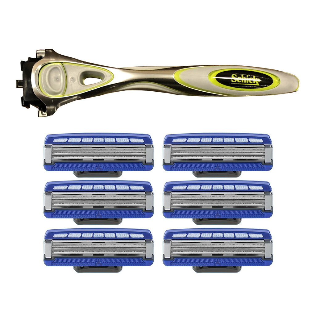 Schick Hydro 5 Sensitive Shaver With Six Hydro 3 Replacement Blades