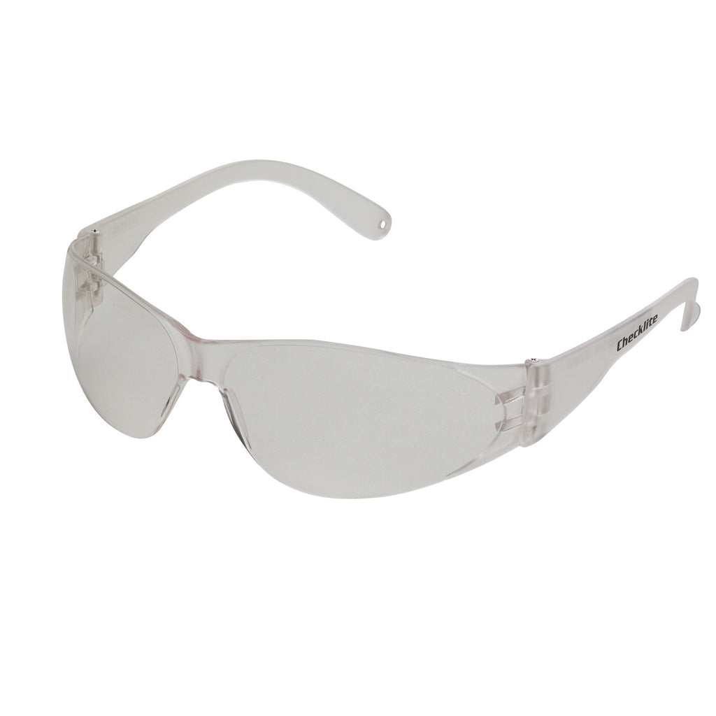 MCR Safety Checklite Scratch-Resistant Safety Glasses, Clear Lens -CRWCL110BX