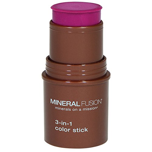 Mineral Fusion 3-in-1 Color Stick, Berry Glow .18 Ounce
