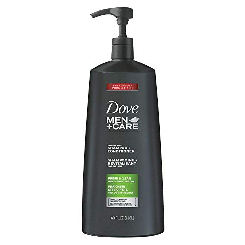 Dove Men+ Care 2 in 1 Shampoo and Conditioner, Fresh and Clean 40 Oz