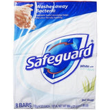 Safeguard Antibacterial Soap, White with Aloe, 4 oz bars, 8 Count