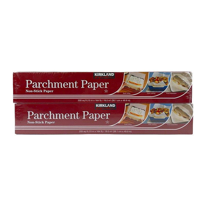 Kirkland Signature, Parchment Paper 2-pack Great For: Baking, Lining, Boiling, Sushi Rolling, Oven Cooking, Food Preparation