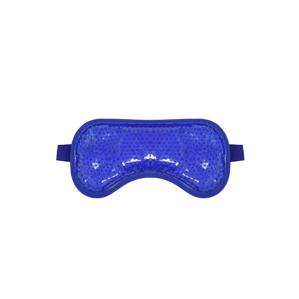 EyeSee Cooling Gel Eye Mask for Puffy Eyes, Dark Circles and Allergy Relief - Blue Plush