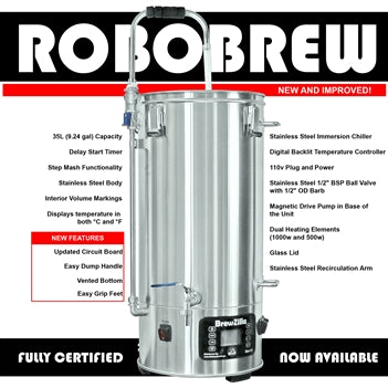 RoboBrew Brewzilla V3.1 All Grain Brewing System - 35L