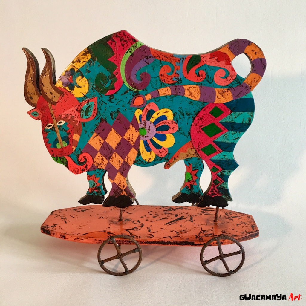 Bull art Sculpture Mariano Guillot home decor venezuela